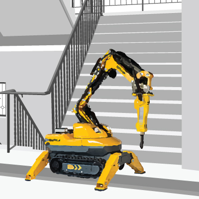 brokk machine for controlled demolition