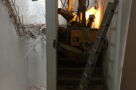 Removing a concrete staircase